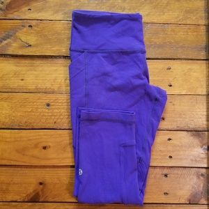 Lululemon cropped leggings with side pockets